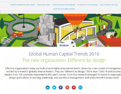 Global Human Capital Trends 2016. The new organization: Different by design.
