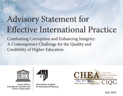 Advisory Statement for Effective International Practice