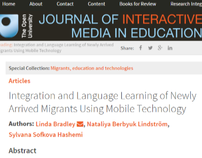 Integration and Language Learning of Newly Arrived Migrants Using Mobile Technology