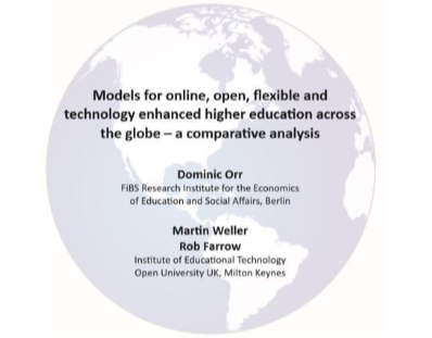 Models for online, open, flexible and technology enhanced higher education across the globe – a comparative analysis