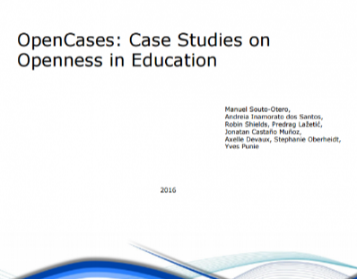 OpenCases: Case Studies on Openness in Education
